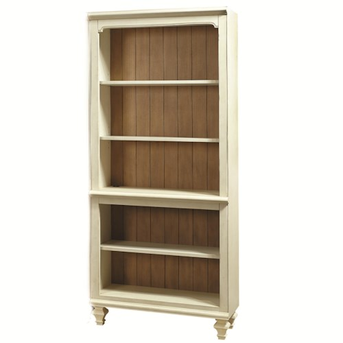 Aspenhome Cottonwood Open Bookcase with 3 Adjustable Shelves and 1 Stationary
