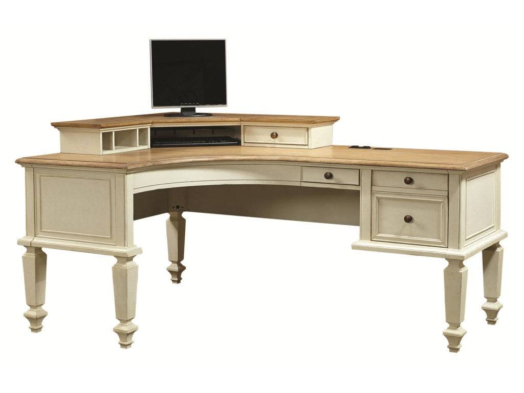corner brown workstation amazon com desk with products computer dp hutch office