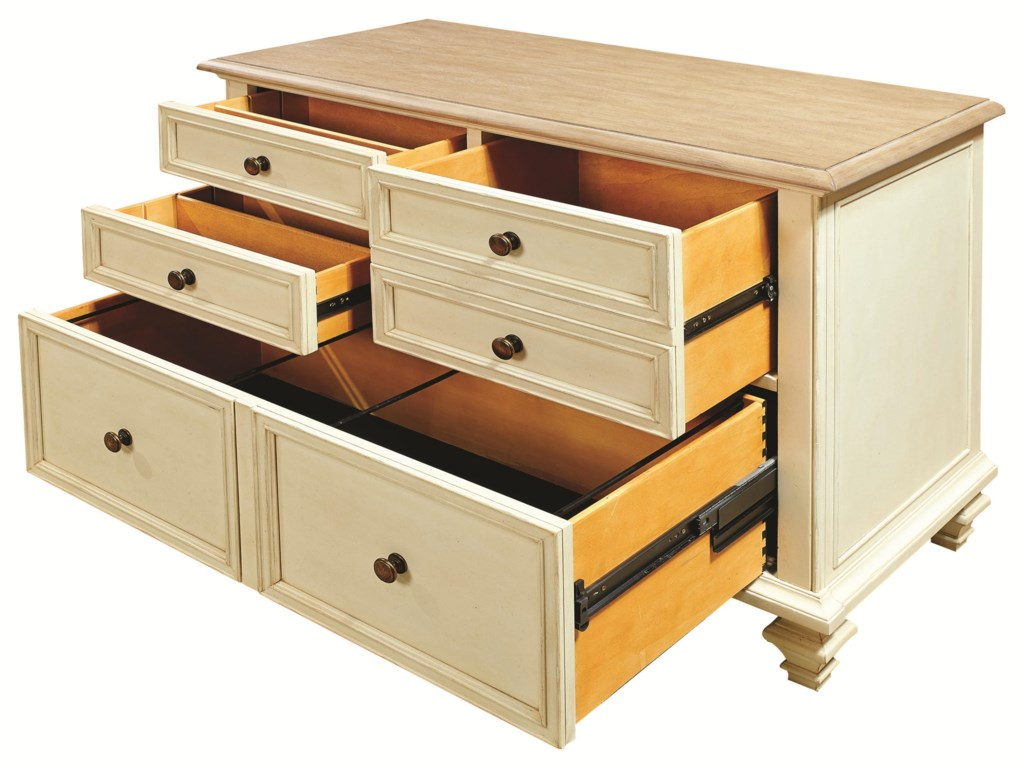 File Cabinet Cottonwood Combo File Cabinet With 2 Utility Drawers Morris Home