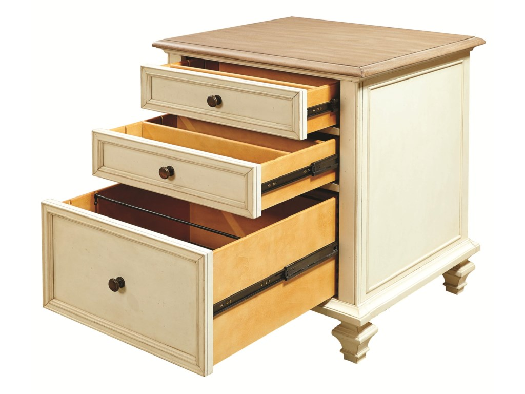 Shown with File Drawer and Utility Drawers Open
