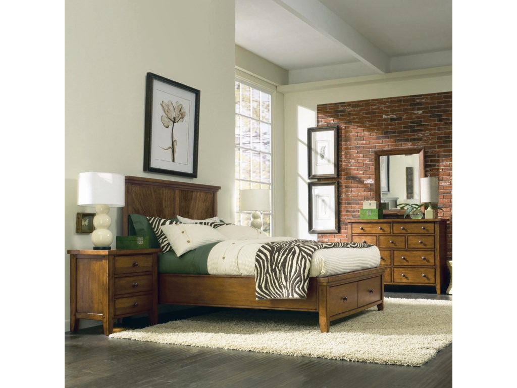 Shown with Chesser and Mirror, and Three Drawer Nightstand - Bed Shown May Not Represent Size Indicated