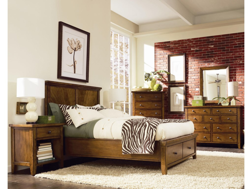 Shown with Dresser and Mirror, Chest, and One-Drawer Nightstand - Bed Shown May Not Represent Size Indicated