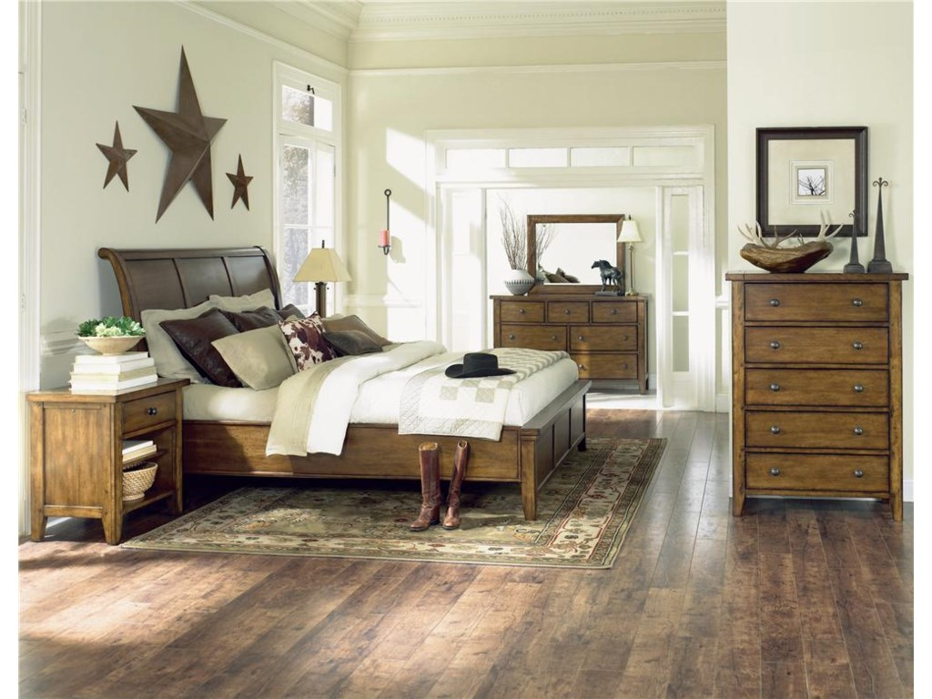 Shown with Mirror, Sleigh Bed, Chest, and Nightstand