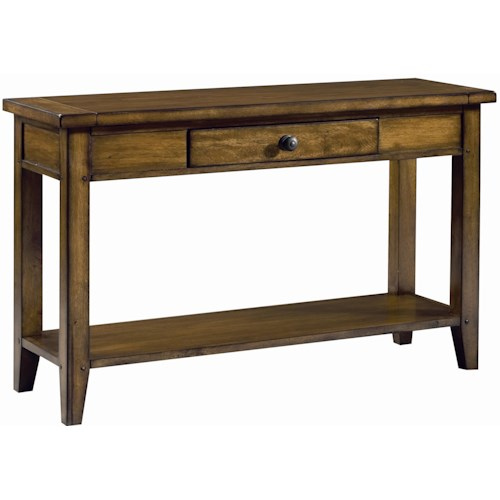 Aspenhome Cross Country Sofa Table with One Drawer & One Shelf