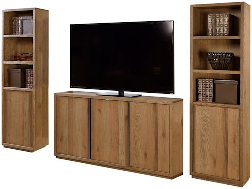 Aspenhome District Entertainment Wall with Five Doors