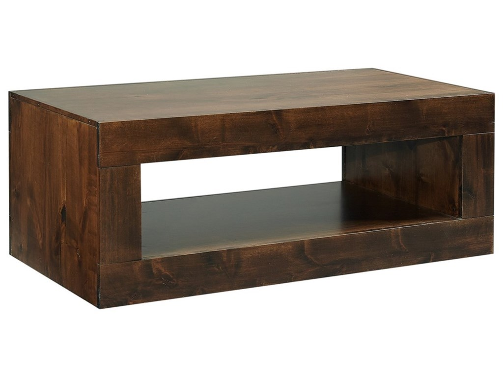 Aspen Home Coffee Table.Nova Alder Transitional Cocktail Table With Lower Open Shelf By Aspenhome At Zak S Home