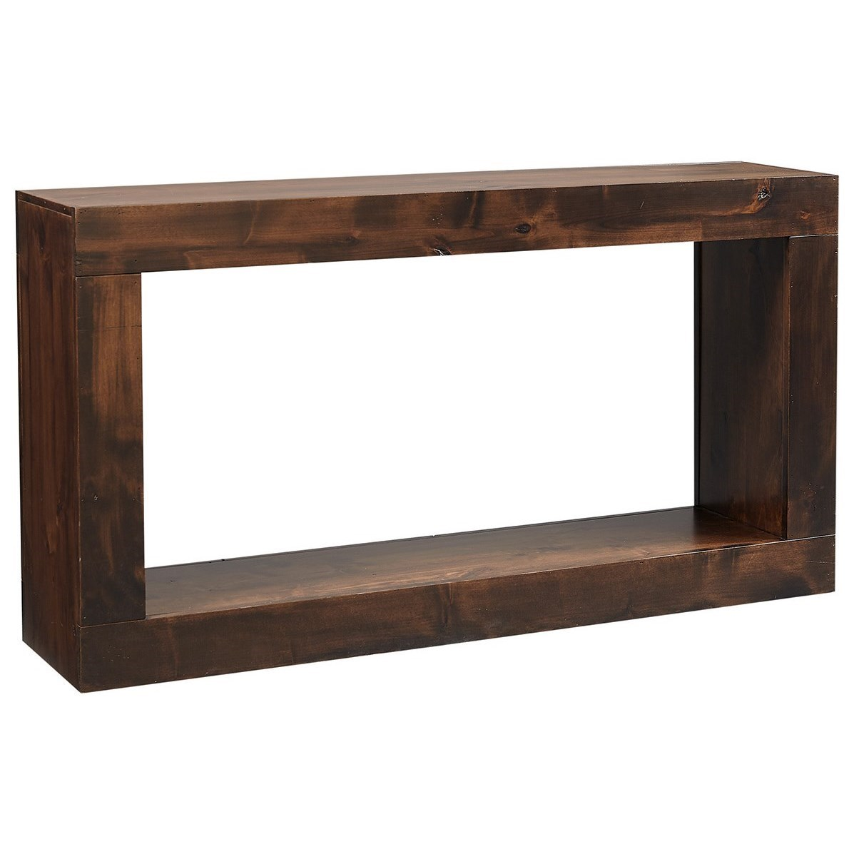 "Transitional 60"" Console Table with Lower Open Shelf"