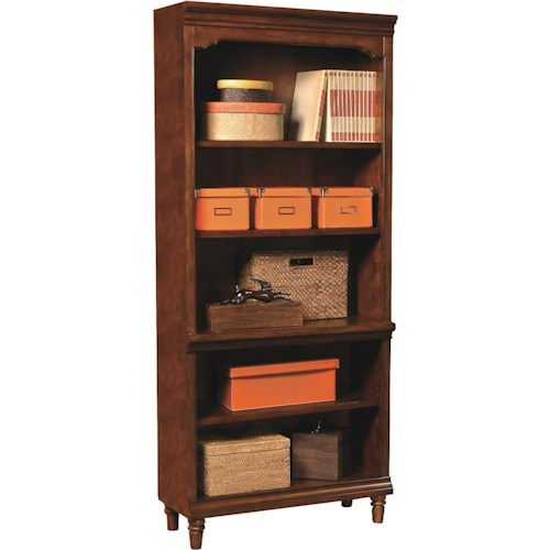 Aspenhome Villager Open Bookcase with 1 Fixed Shelf and 3 Adjustable Shelves
