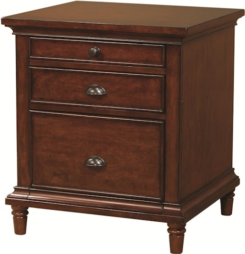 Aspenhome Villager Single File with File Drawer and 2 Utility Drawers