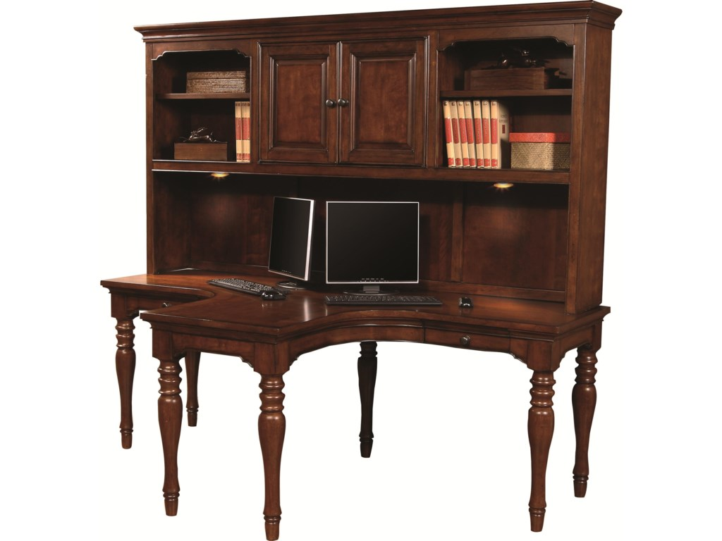 desk oak with sauder amazon hutch dp com computer dining hills kitchen carolina orchard