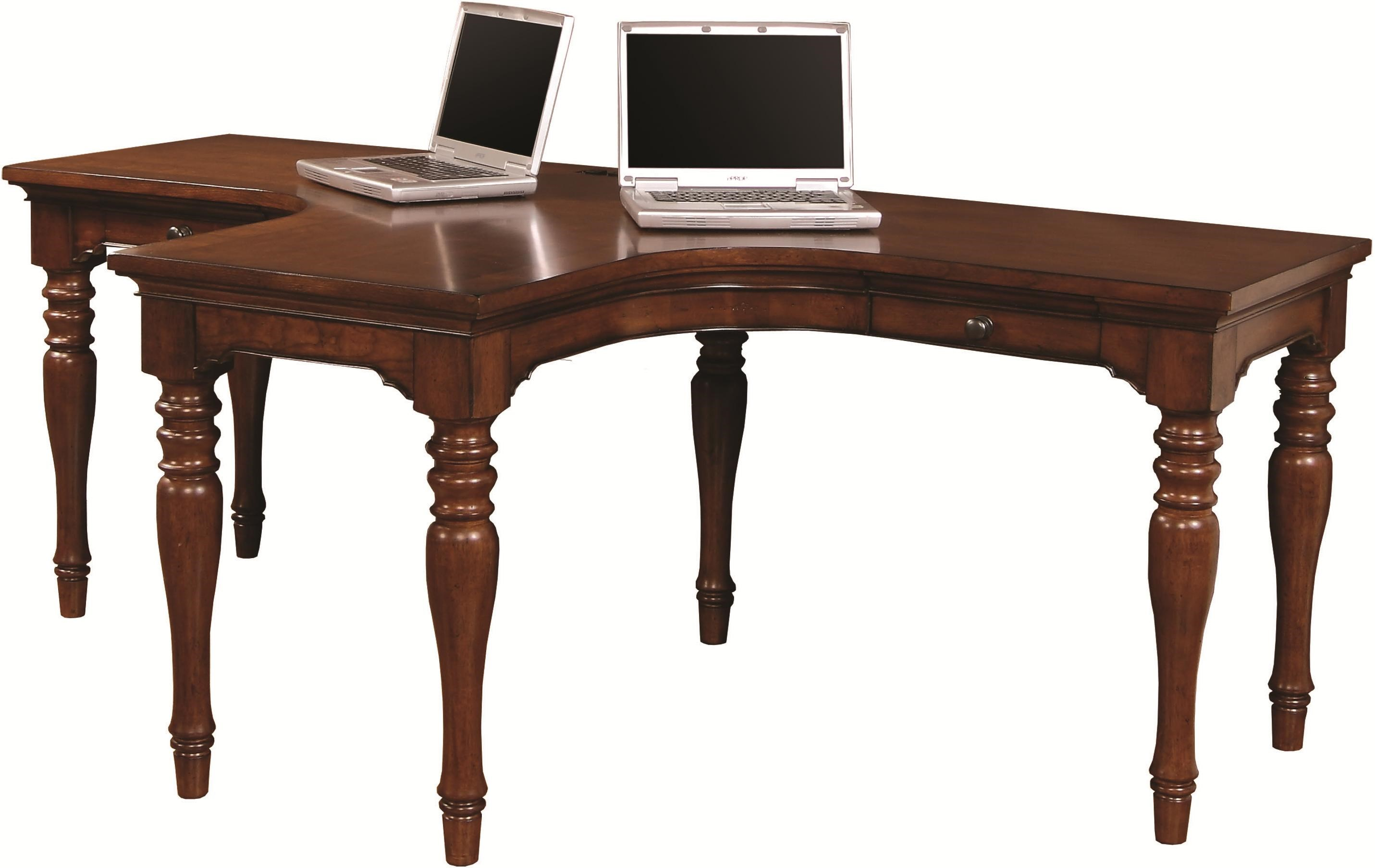 dual furniture. aspenhome villager dual t desk with 2 drawers and 4 ac outlets belfort furniture lshape