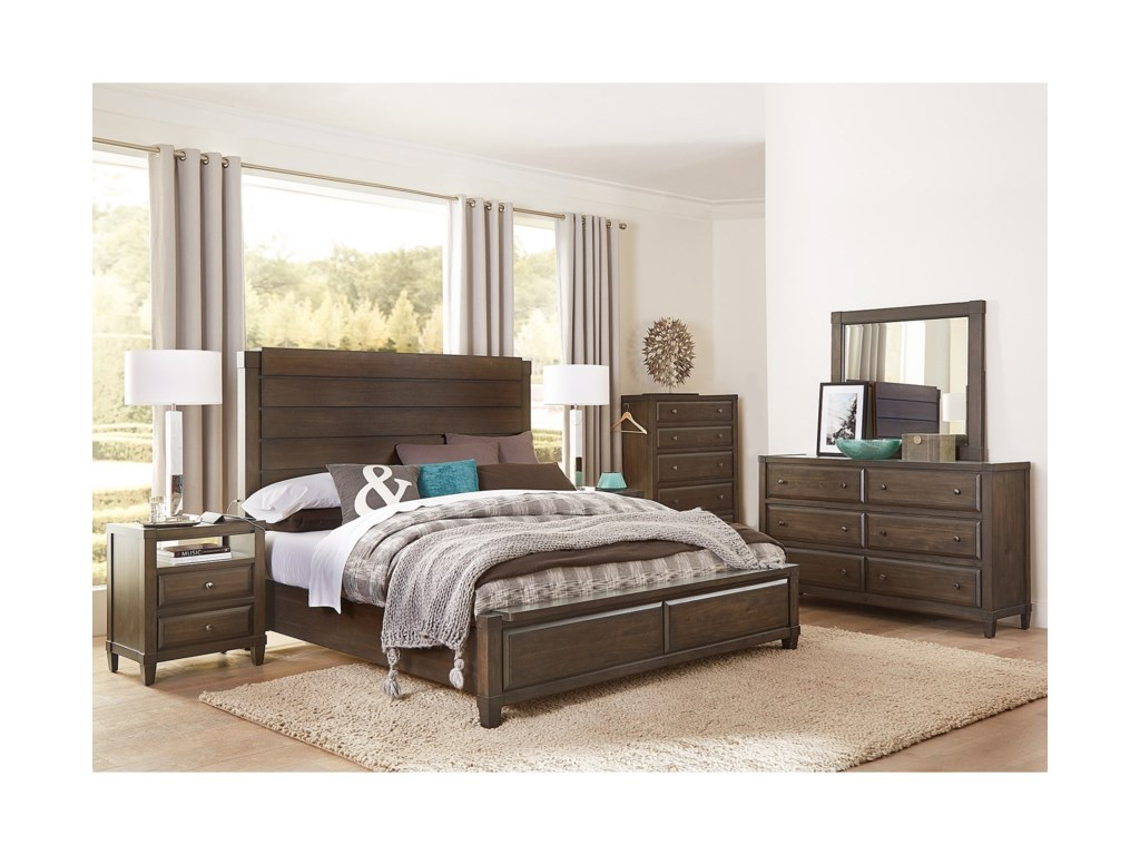 Aspenhome EastonQueen Panel Bed