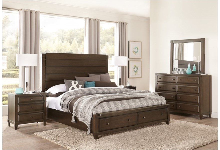 Aspenhome Easton Transitional 8 Drawer Chesser And Mirror Combination With Felt Lined Top Drawers Dunk Bright Furniture Dresser Mirror Sets