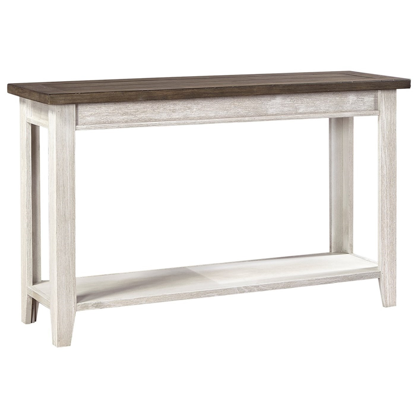 Sofa Table with Two-Tone Finish
