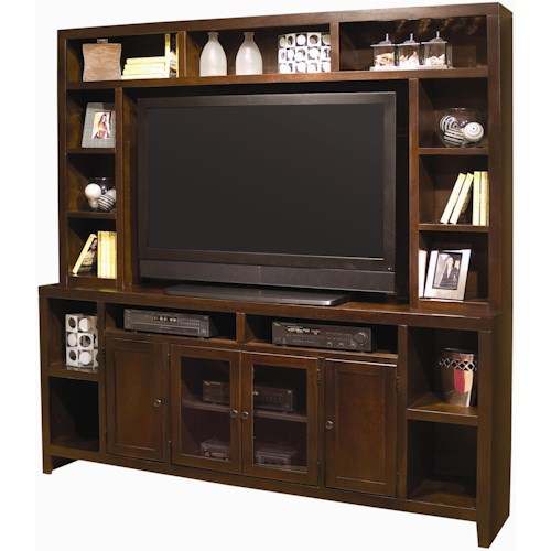 Aspenhome Essentials Lifestyle Entertainment Wall with 84-Inch Console & Hutch