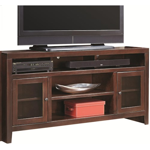 Aspenhome Essentials Lifestyle 65 Inch Console with 2 Glass Doors