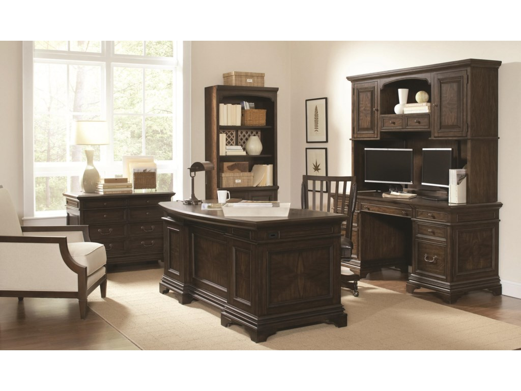 Aspenhome EssexCurved Executive Desk