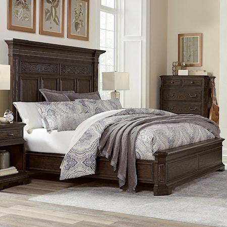 Queen Estate Panel Bed