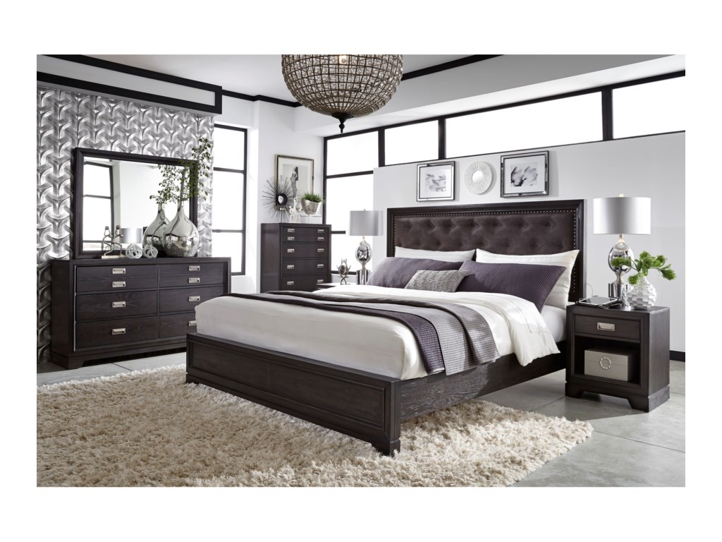 Aspenhome Front StreetKing Upholstered Bed