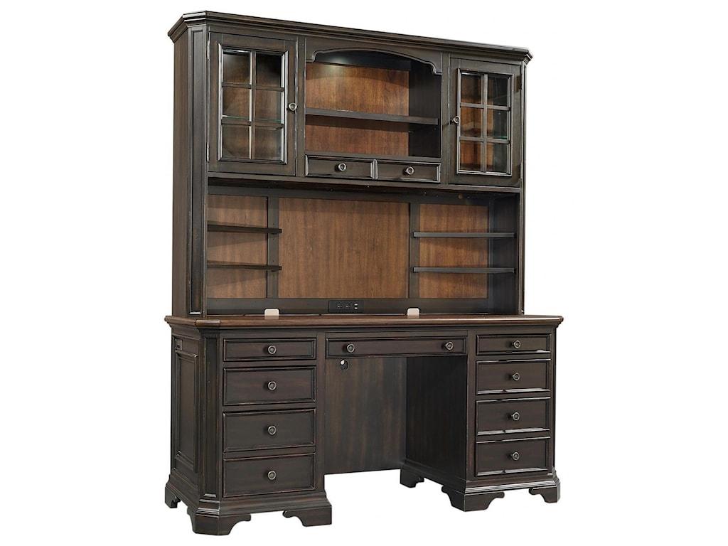 Aspenhome HamptonCredenza Desk and Hutch