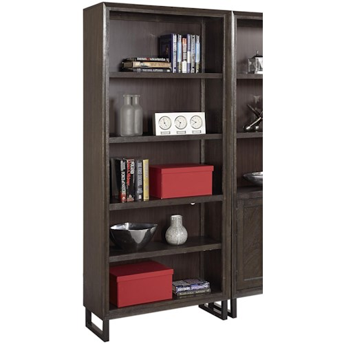 Aspenhome Harper Point Contemporary Open Bookcase with Adjustable Shelves