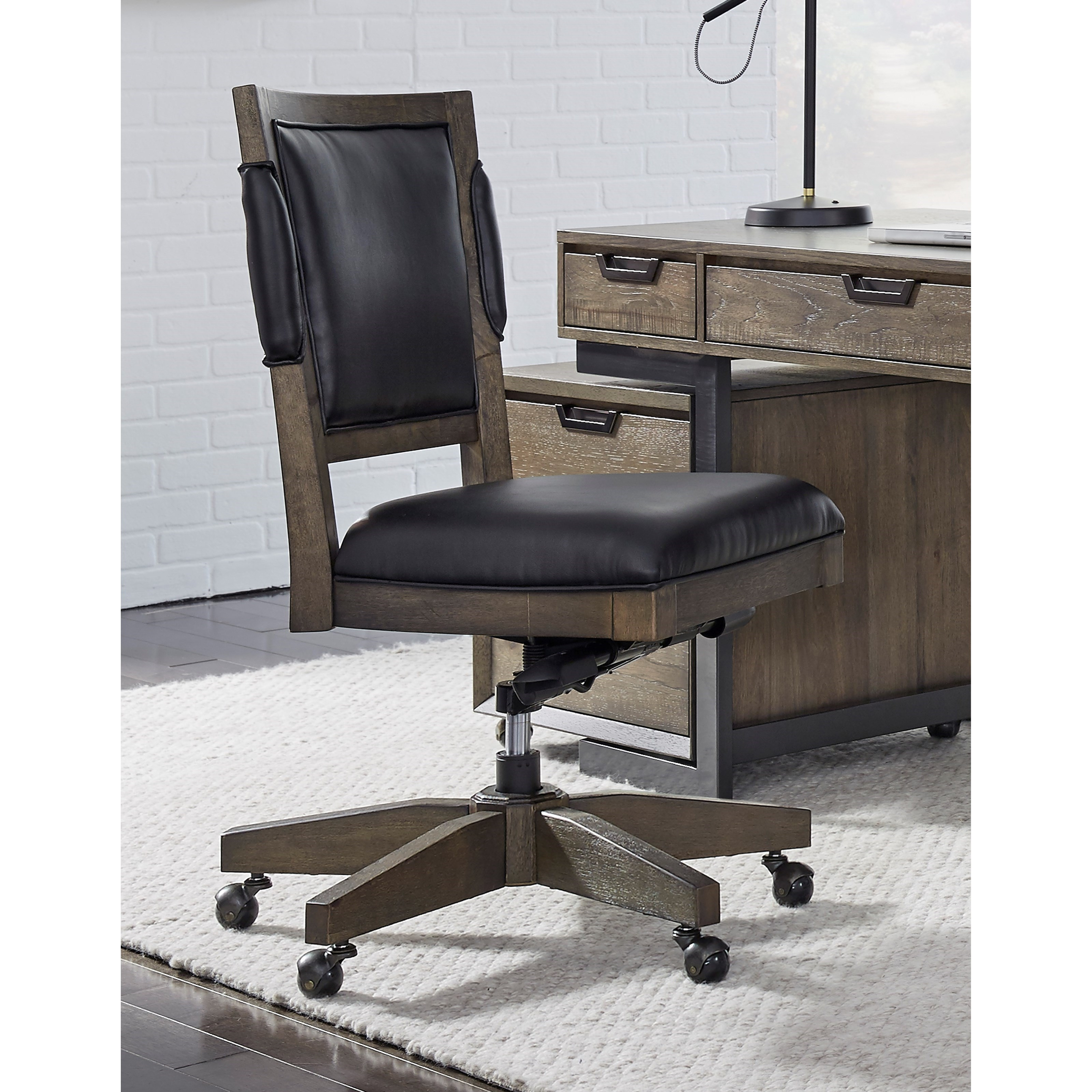Aspenhome Harper Point Contemporary Office Chair With Cushioned Seat