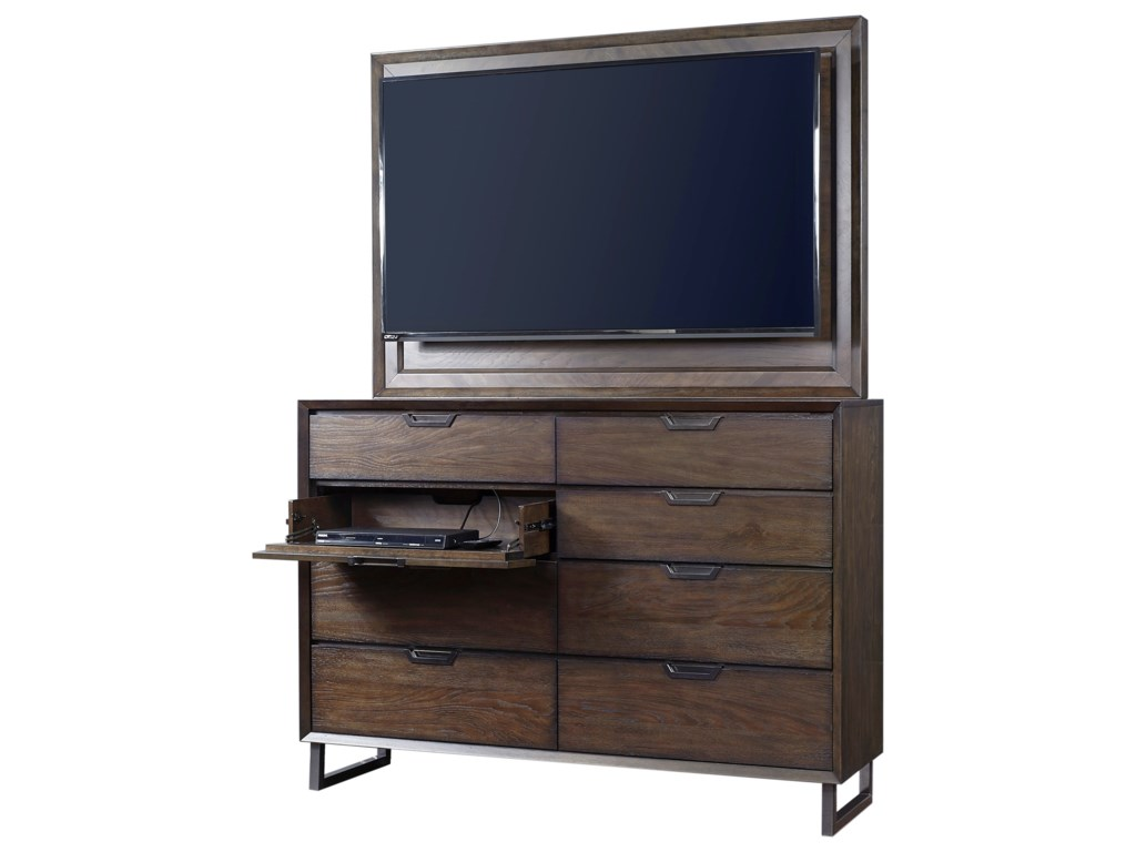 Aspenhome Harper Point8 Drawer Chesser and TV Frame