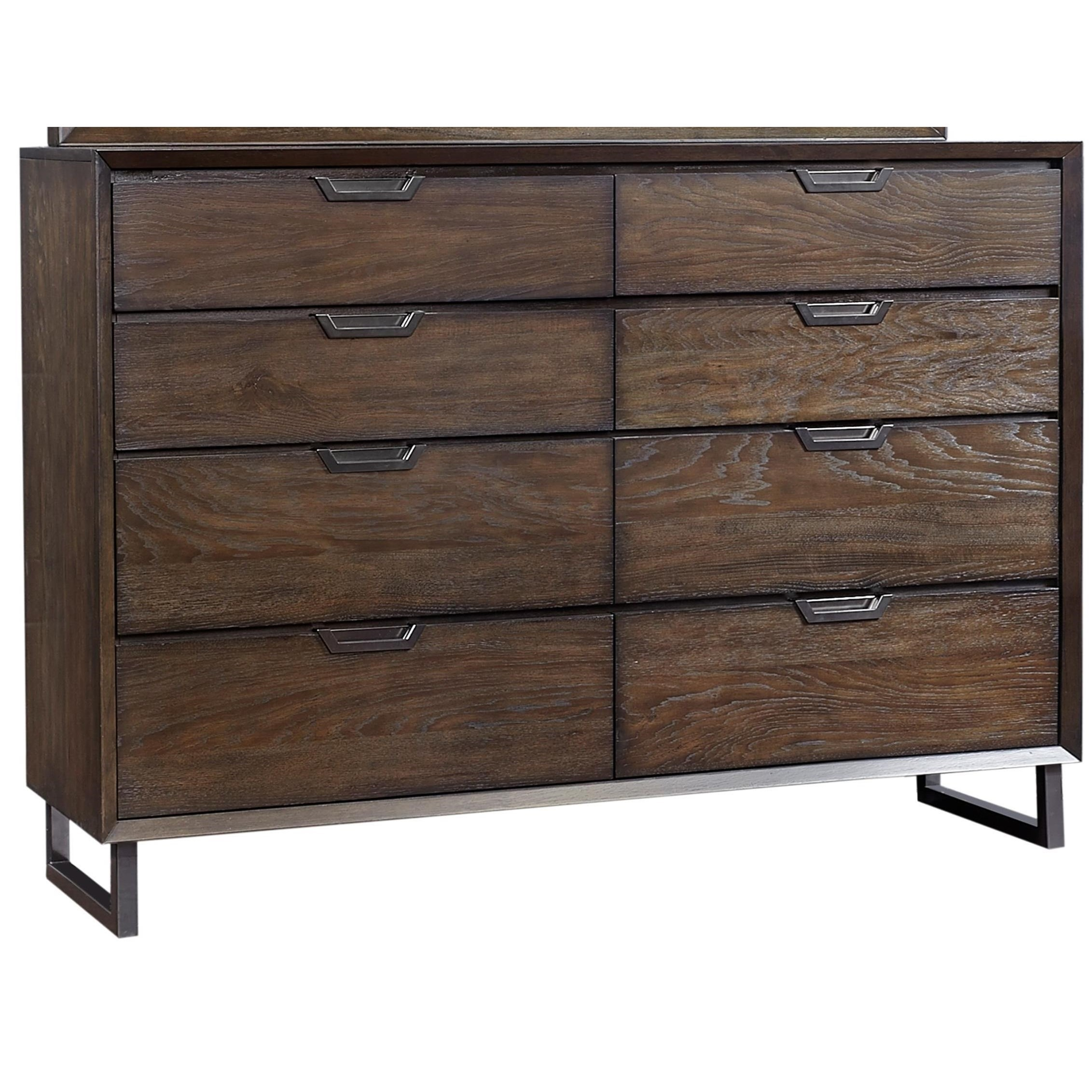 Harper Point Contemporary 8 Drawer Chesser With Felt Lined Top Drawers By Aspenhome Clackamas Store Only At Gallery Furniture