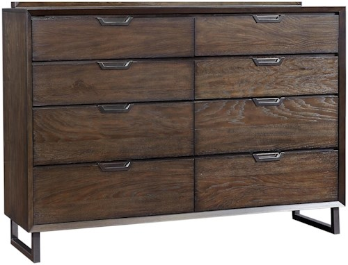 Aspenhome Harper Point Contemporary 8 Drawer Chesser with Felt-Lined Top Drawers