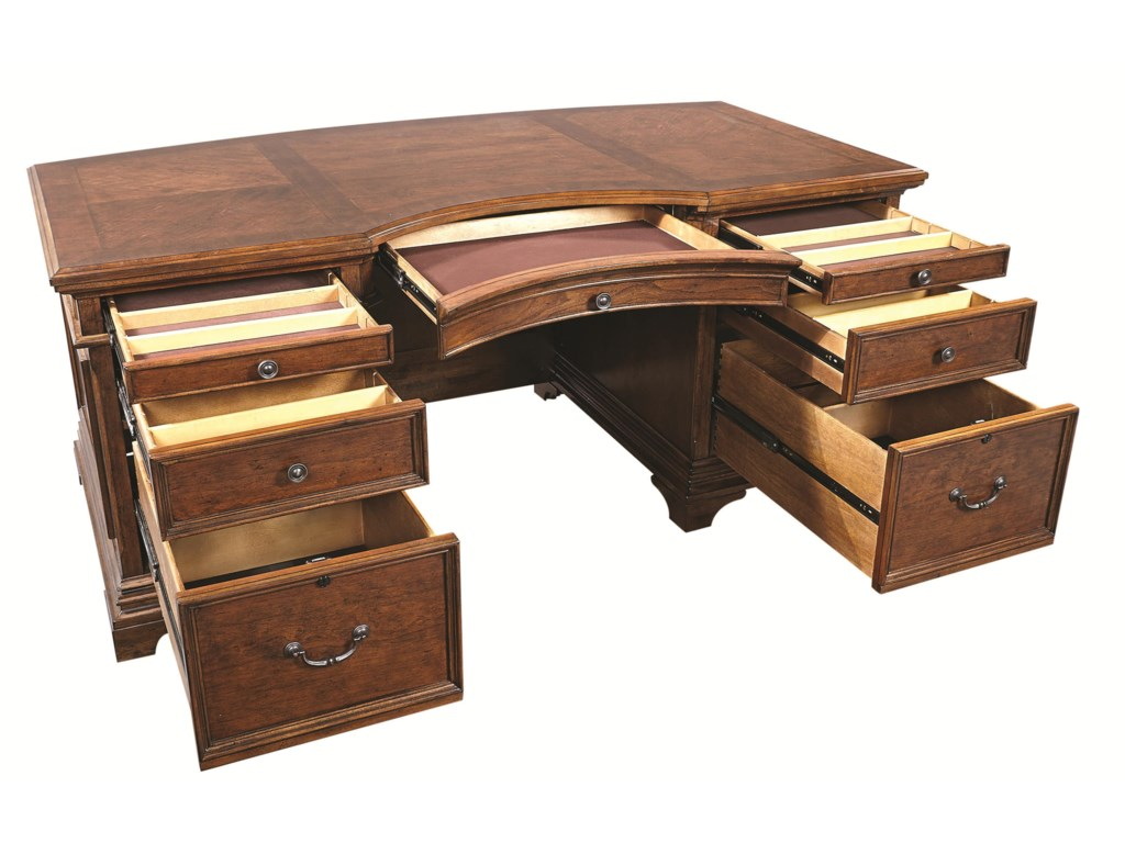 Aspenhome HawthorneCurved Executive Desk