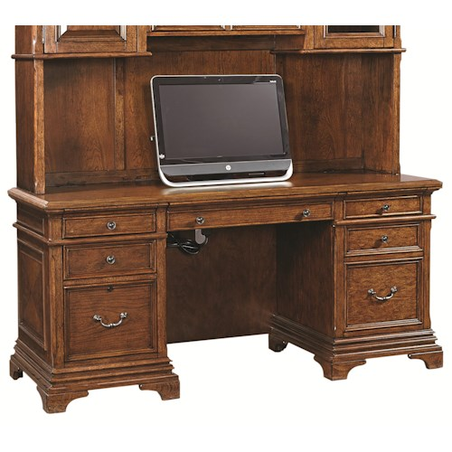 Aspenhome Hawthorne 66-Inch Credenza with 3 Utility Drawers and 1 Adjustable Shelf