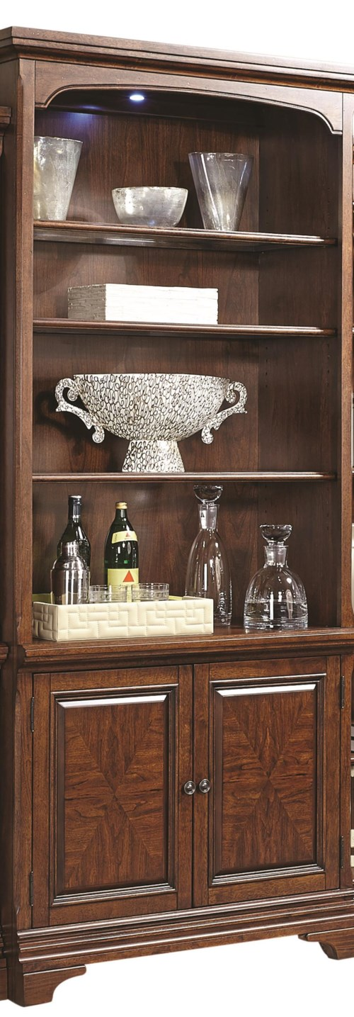 Aspenhome Hawthorne 84 Quot Lighted Door Bookcase With Glass