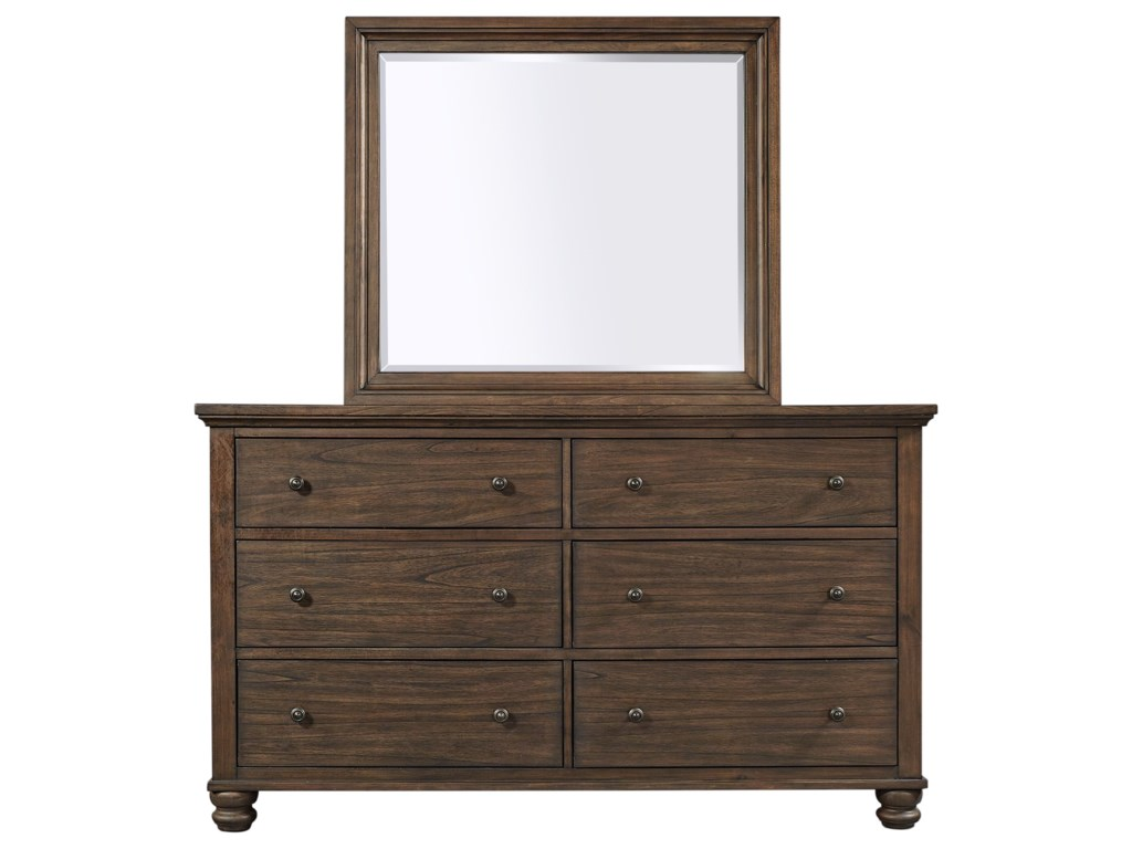 Aspenhome Hudson ValleyDresser and Mirror Combination