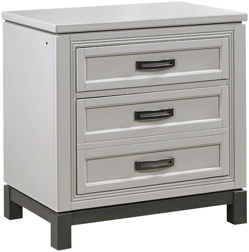 Aspenhome Hyde Park Nightstand with Dovetail Drawer Outlets
