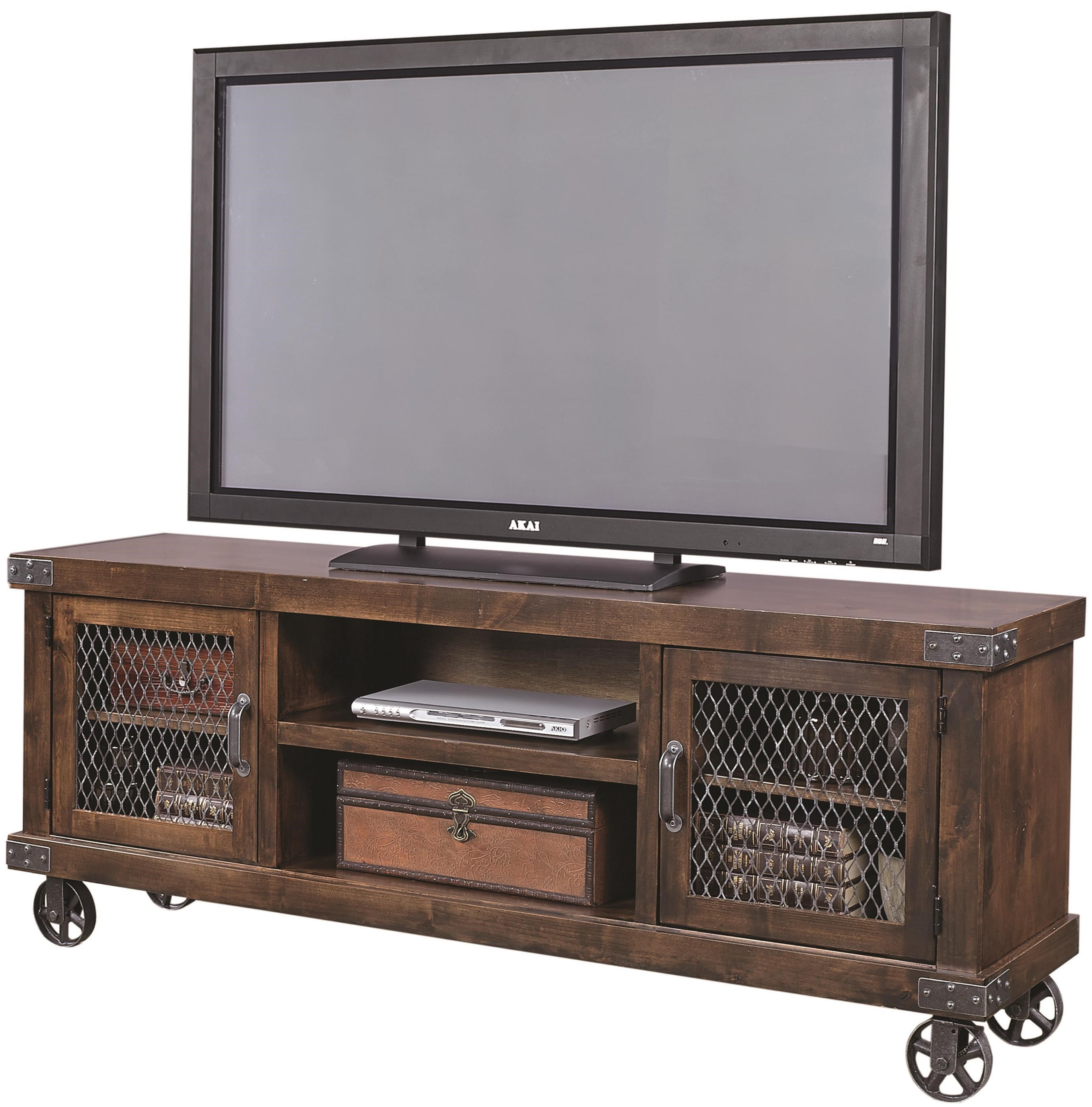 """74"""" Console with 2 Doors and Casters"""