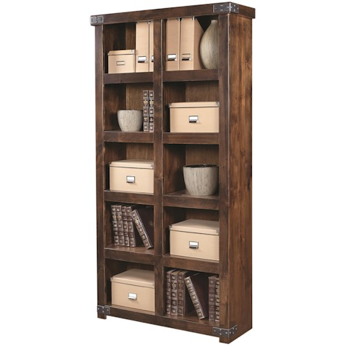 Aspenhome Industrial Display Case with 10 Shelves