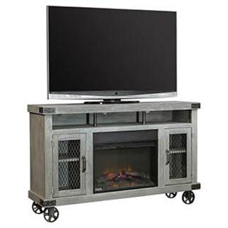 """62"""" Fireplace Console with Soundbar Area"""
