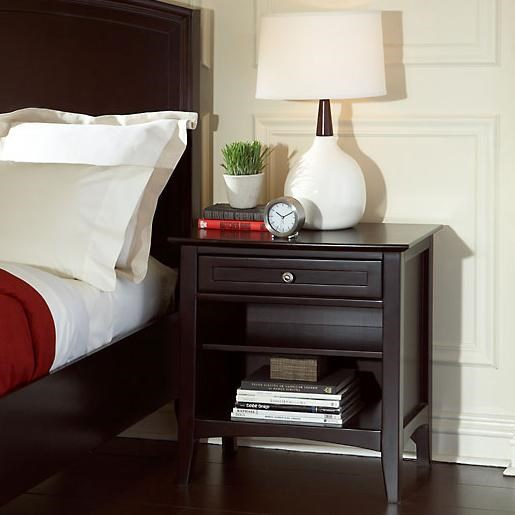 Nigh Stand Shown Next to Bed Side