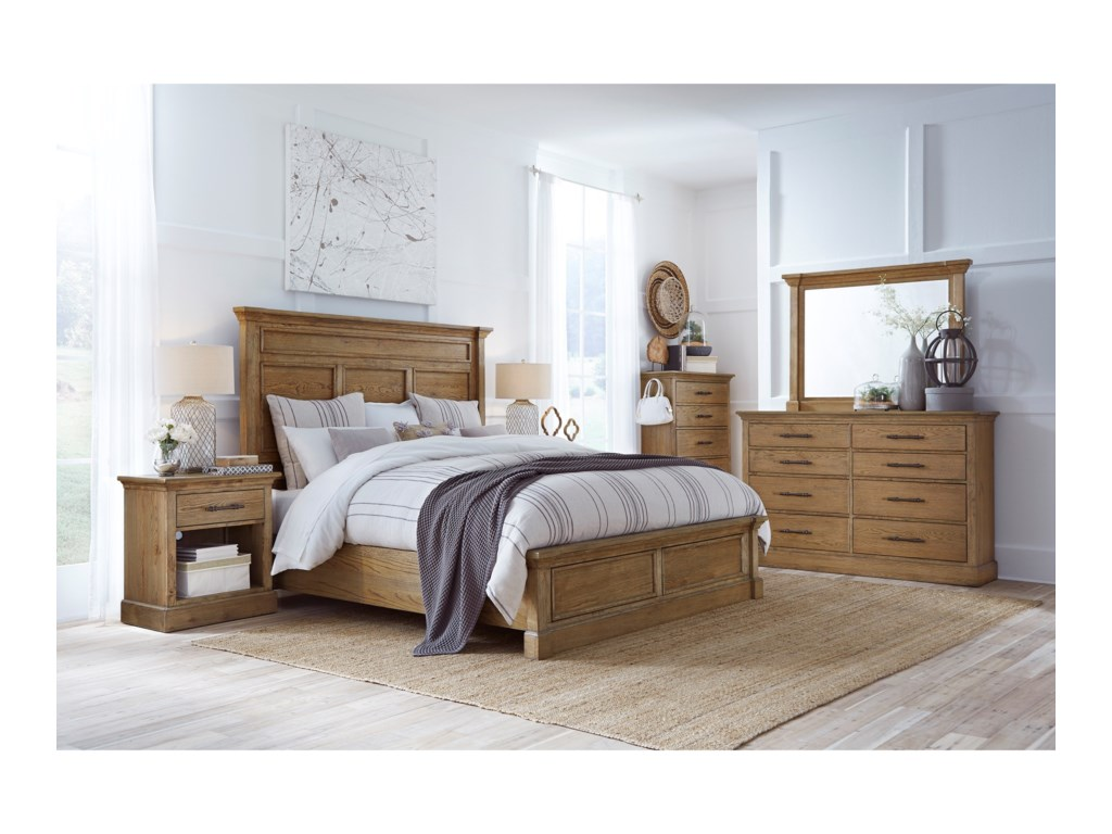 Aspenhome ManchesterKing Panel Bed