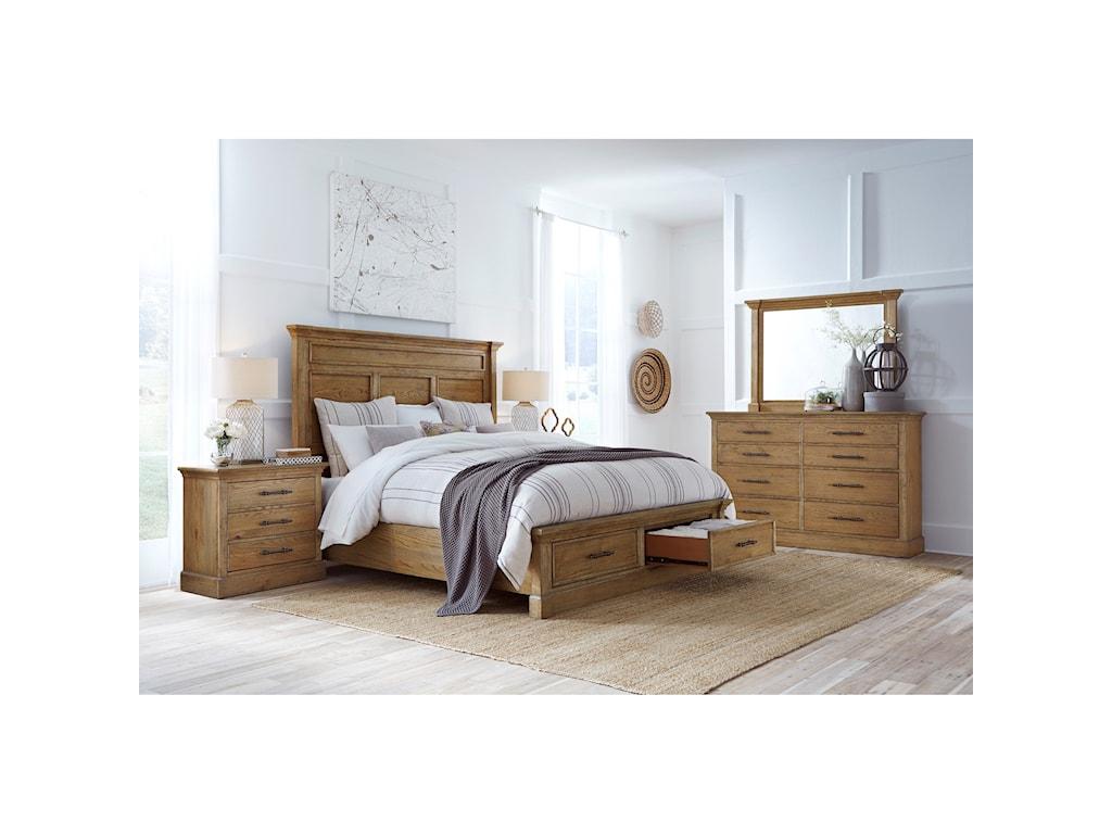 Highland Court MansfieldMansfield King Panel Storage Bed