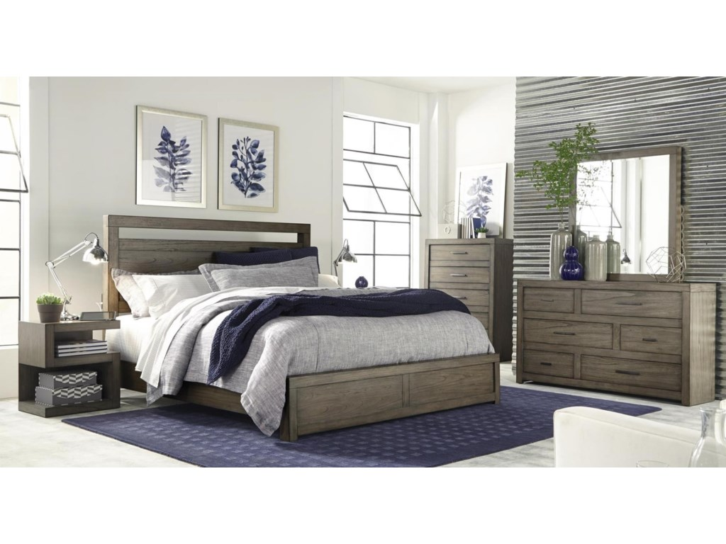 Modern Loft 4-Piece Queen Bedroom Set by Hills of Aspen at Ruby Gordon Home