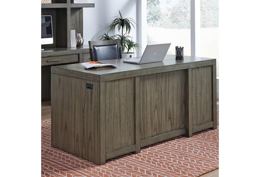 Executive Desk With Locking File