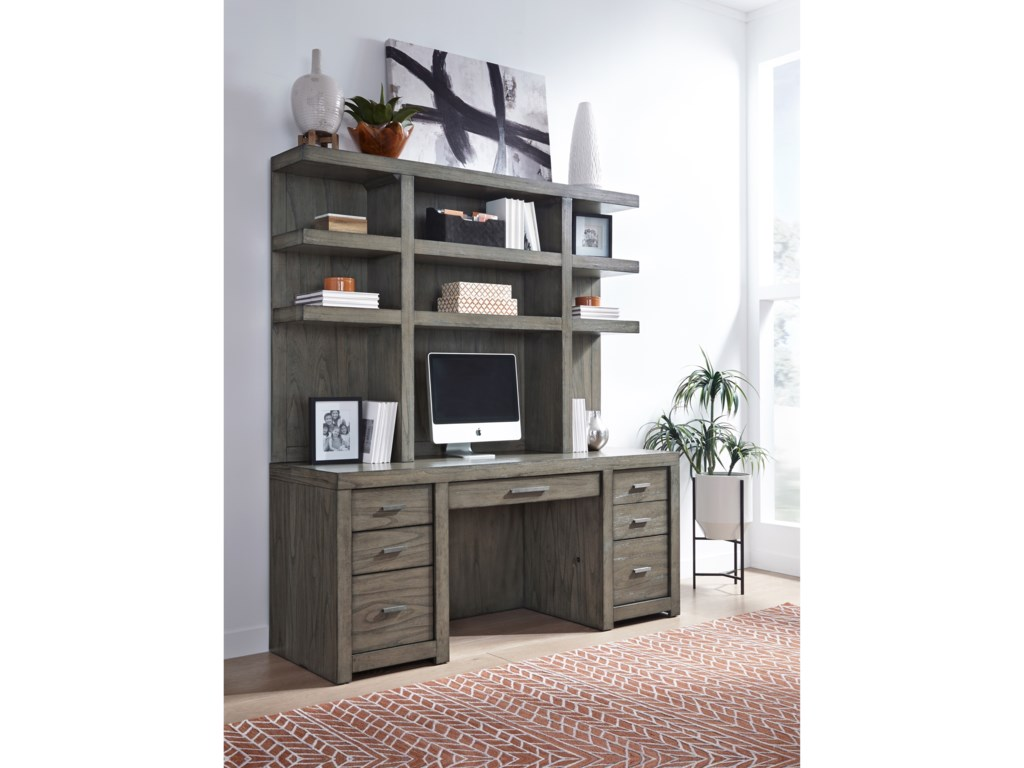 Aspenhome Modern LoftCredenza and Hutch