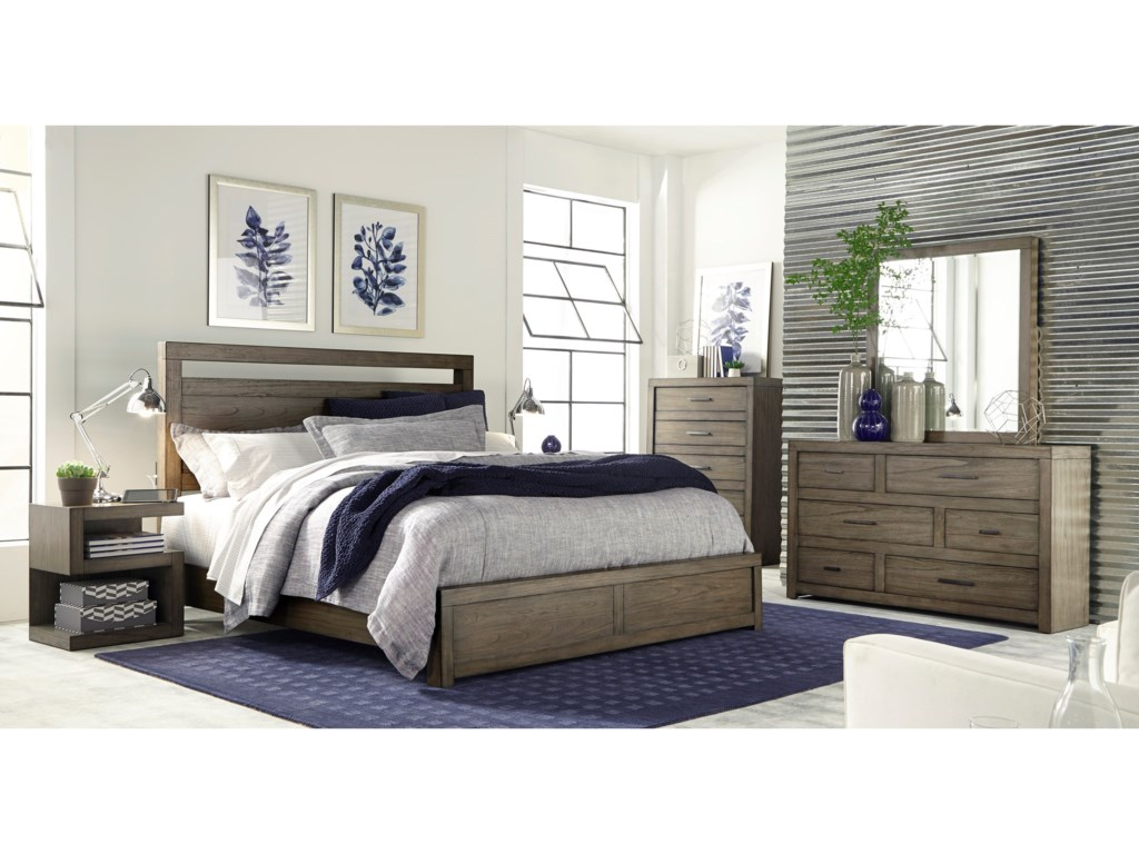 Aspenhome Modern LoftQueen Panel Bed