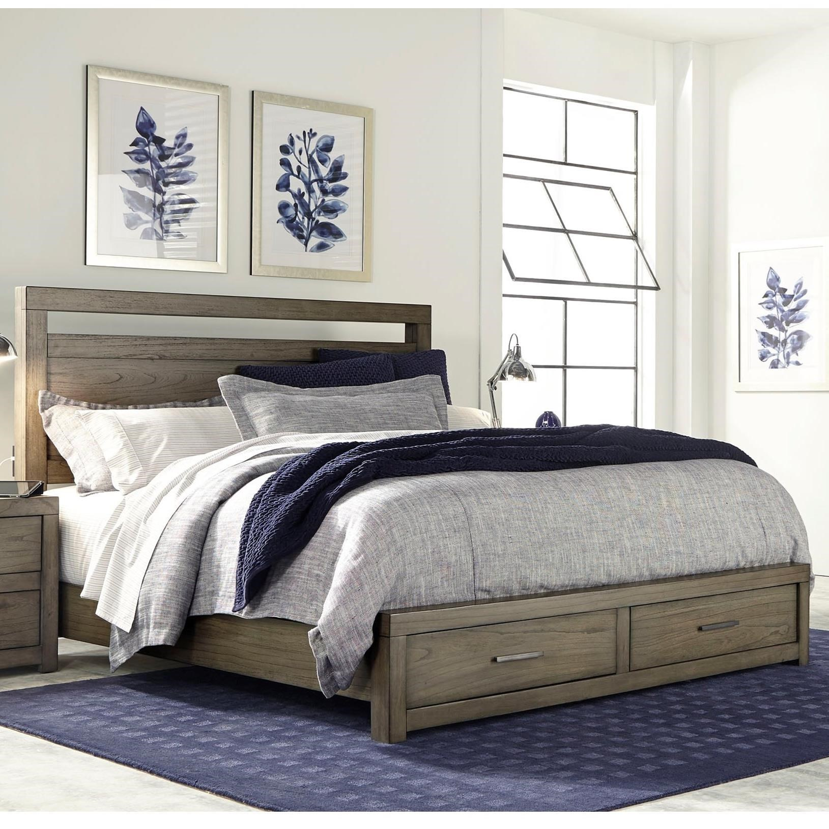 Queen Panel Storage Bed with USB Charging Outlets