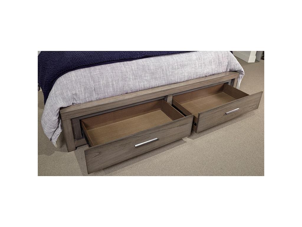 Aspenhome Modern LoftQueen Panel Storage Bed