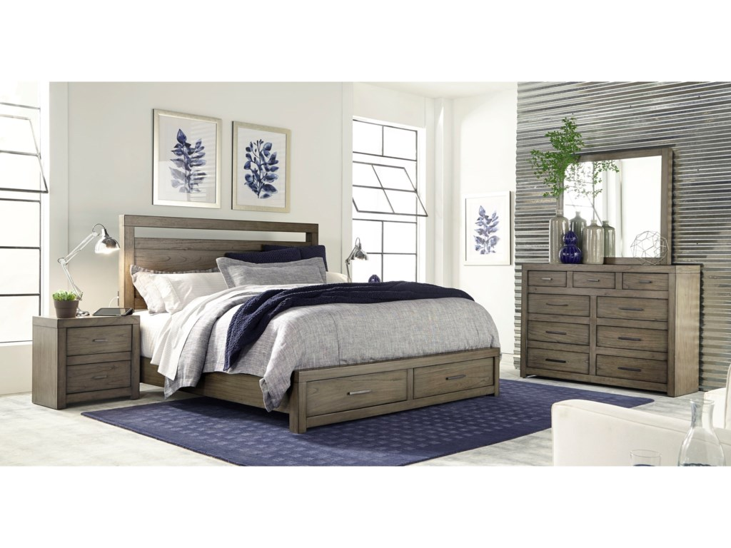 Aspenhome UrbaniteQueen Panel Storage Bed