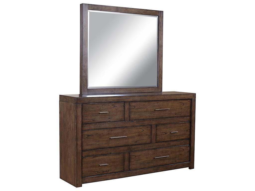 Aspenhome Modern Loft6 Drawer Dresser