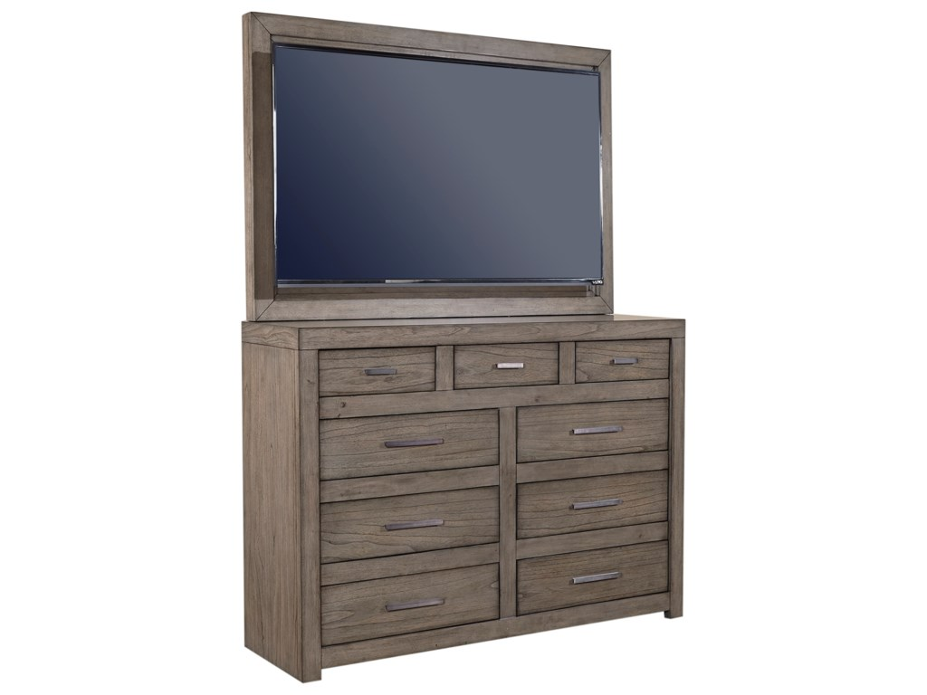 Aspenhome Modern LoftMedia Chest with TV Mount