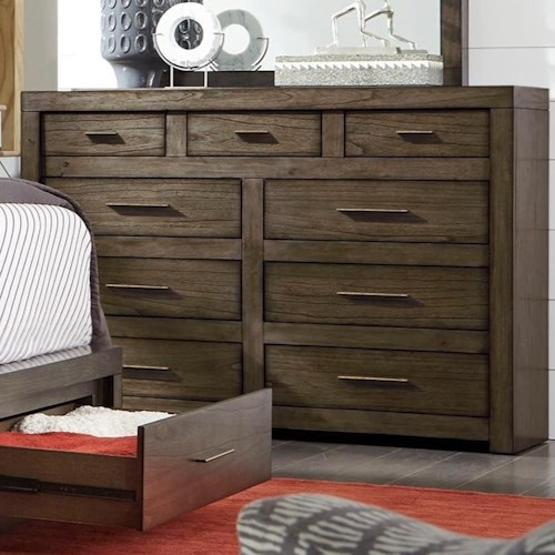 Aspenhome Modern Loft Chesser with Drop-Front Drawer